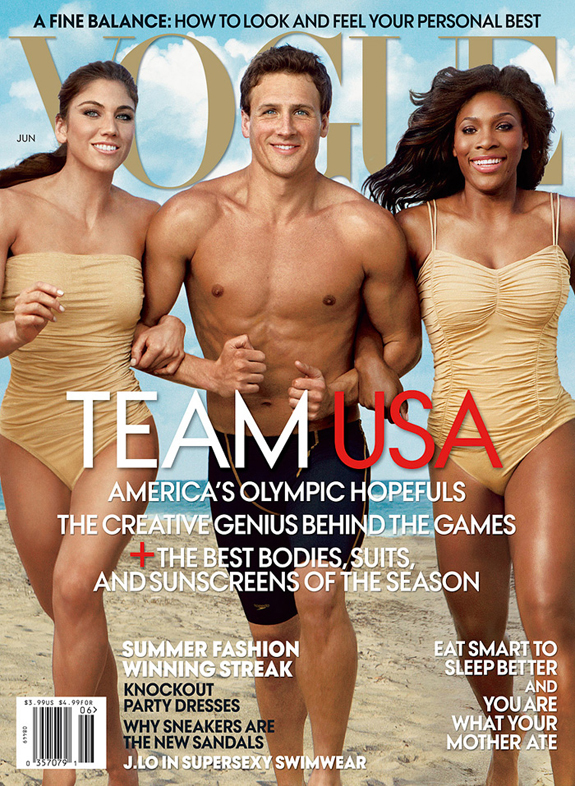 With Serena Williams and Hope Solo