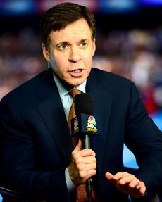 Bob Costas at London 2012 (via USA Today)