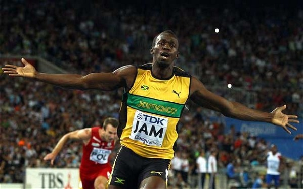 Usain Bolt (via the Telegraph)
